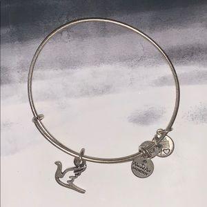 Alex & Ani Silver Dove Bracelet